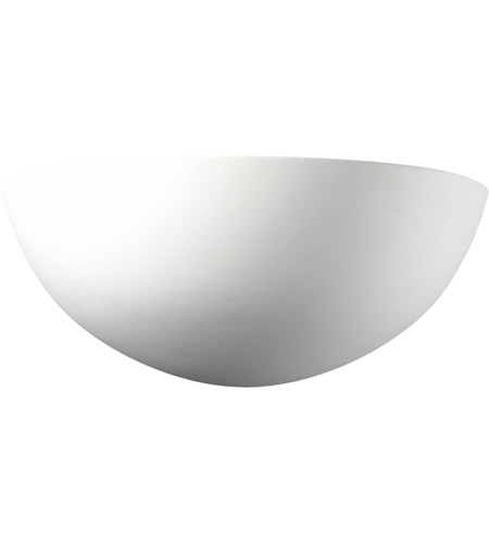 Justice Design Group Ambiance Small Quarter Sphere Wall Sconce in Bisque CER-1300-BIS photo