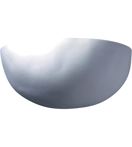Justice Design CER-2190-MAT Ambiance Zia 1 Light 12 inch Matte White Wall Sconce Wall Light in Incandescent