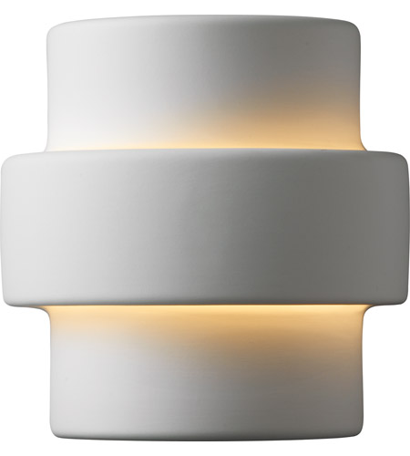 Justice Design Group Ambiance Small Step Wall Sconce in Bisque CER-2205-BIS photo