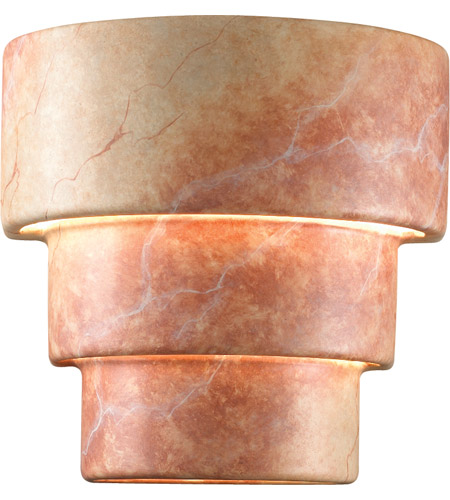 Justice Design CER-2225-VAN Ambiance Terrace 2 Light 11 inch Vanilla Gloss Wall Sconce Wall Light in Incandescent, Small