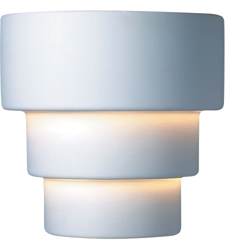Justice Design CER-2225W-BIS Ambiance Terrace 1 Light 10 inch Bisque Outdoor Wall Sconce in Incandescent, Small