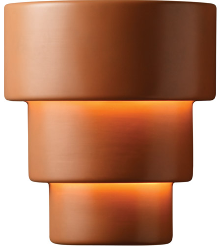 Justice Design CER-2235-VAN Ambiance Terrace 2 Light 13 inch Vanilla Gloss Wall Sconce Wall Light in Incandescent, Large