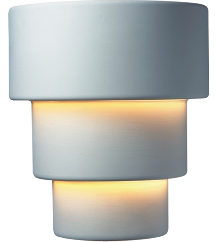 Justice Design CER-2235W-STOS Ambiance Terrace 1 Light 14 inch Slate Marble Outdoor Wall Sconce in Incandescent, Large