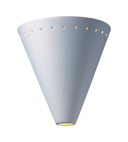 Justice Design Group Ambiance Cut Cone w/ Perfs Wall Sconce in Bisque CER-2495-BIS photo