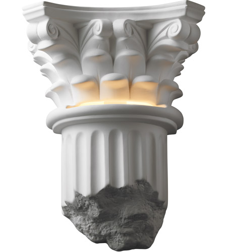 Justice Design CER-4700-BIS Ambiance 1 Light 12 inch Bisque Wall Sconce Wall Light photo