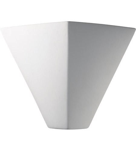 Justice Design CER-5130-CRK Ambiance Trapezoid 1 Light 12 inch White Crackle ADA Wall Sconce Wall Light