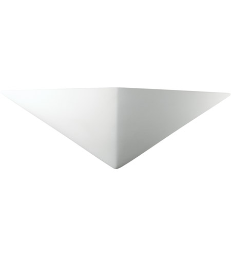 Justice Design CER-5140-HMPW Ambiance Triangle 1 Light 21 inch Hammered Pewter ADA Wall Sconce Wall Light in Incandescent