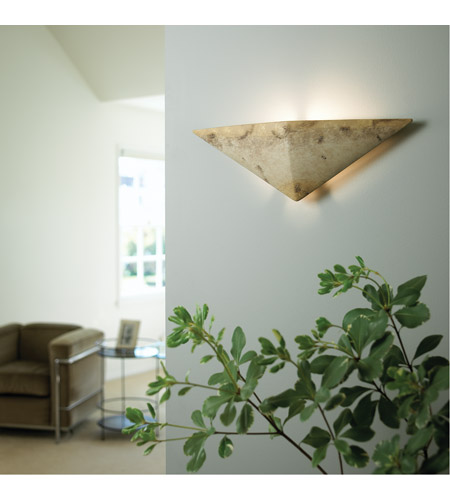 Justice Design CER-5140-HMPW Ambiance Triangle 1 Light 21 inch Hammered Pewter ADA Wall Sconce Wall Light in Incandescent CER-5140-TRAG_INSTAL.jpg