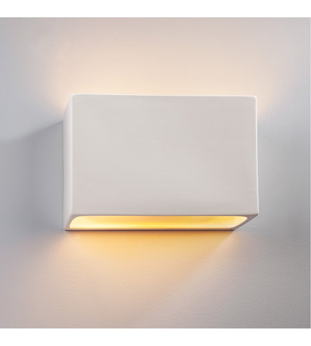 Justice Design CER-5655-MID-LED2-2000 Ambiance LED 12 inch Matte Black ADA Wall Sconce Wall Light photo
