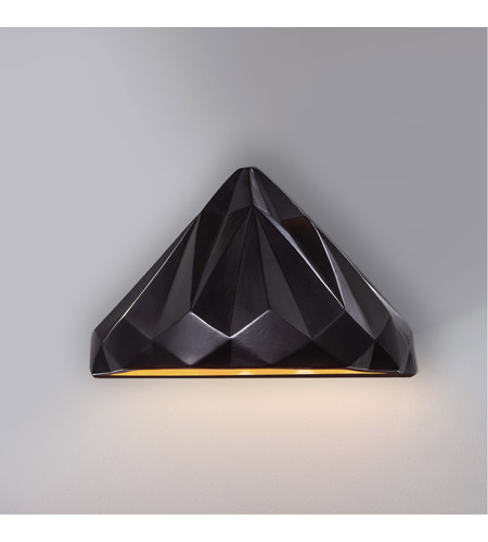 Justice Design CER-5660W-STOS Ambiance 1 Light 12 inch Matte Black Wall Sconce Wall Light photo