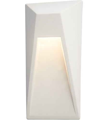 Justice Design CER-5680-NAVR Ambiance LED 9 inch Navarro Red ADA Wall Sconce Wall Light, Vertice photo