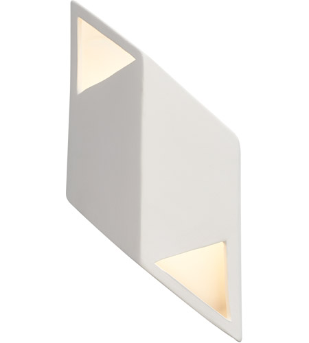 Justice Design CER-5835-ANTG Ambiance LED 6 inch Antique Gold ADA Wall Sconce Wall Light, Rhomboid photo
