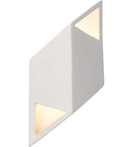 Justice Design CER-5839-CBGD Ambiance LED 6 inch Matte Black ADA Wall Sconce Wall Light photo