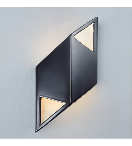 Justice Design CER-5839-BKMT Ambiance LED 6 inch Polished Chrome ADA Wall Sconce Wall Light photo