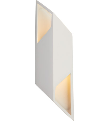 Justice Design CER-5845-HMCP Ambiance LED 6 inch Hammered Copper ADA Wall Sconce Wall Light, Rhomboid photo