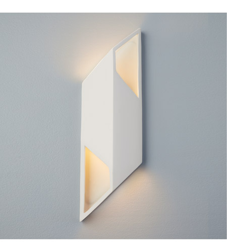 Justice Design CER-5849-ANTG Ambiance LED 6 inch Matte Black ADA Wall Sconce Wall Light photo