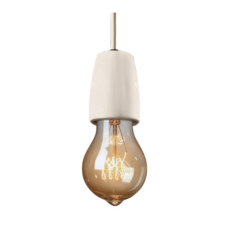 Euro Clics 1 Light Dark Bronze Pendant Ceiling In Bisque White Cord
