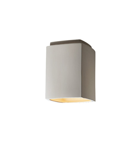 Justice Design CER-6110W-BIS Radiance 1 Light 7 inch Bisque Outdoor Flush-Mount in Incandescent