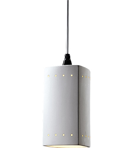Justice Design Cer 6215 Bis Wtcd Radiance 1 Light 6 Inch Bisque Pendant Ceiling In White Cord
