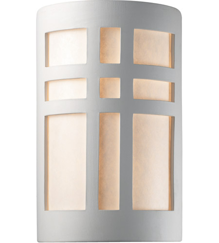 Justice Design Group Ambiance Large Cross Window Outdoor Wall Sconce in Bisque CER-7295W-BIS photo