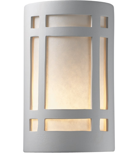 Justice Design CER-7485W-BIS Ambiance 1 Light 10 inch Bisque Outdoor Wall Sconce photo