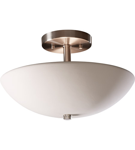 Justice Design CER-9690-BIS Radiance 2 Light 21 inch Bisque Semi-Flush Ceiling Light
