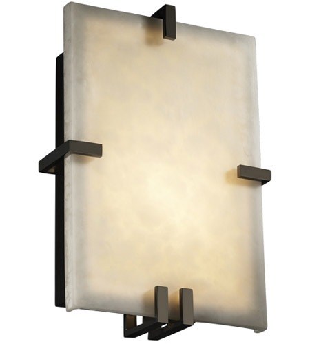Justice Design Clouds Clips Rectangle Wall Sconce (Ada) in Black Nickel CLD-5551-BLKN photo