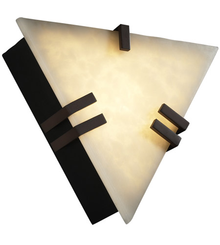 Justice Design Clouds Clips Triangle Wall Sconce (Ada) in Dark Bronze CLD-5552-DBRZ photo