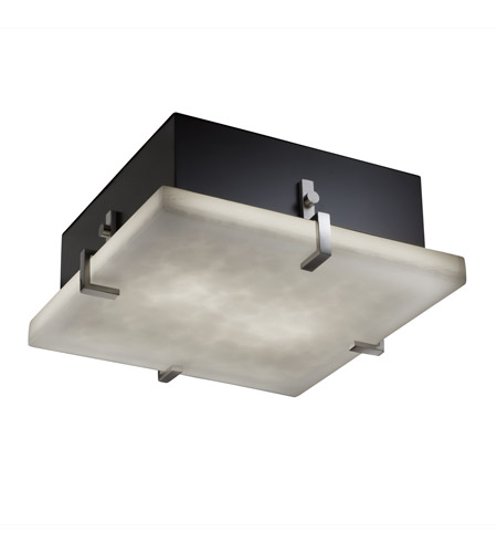 Justice Design CLD-5557-NCKL Clouds 4 Light 17 inch Brushed Nickel Flush-Mount Ceiling Light photo