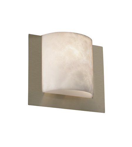 Justice Design CLD-5560-NCKL Clouds 1 Light 12 inch Brushed Nickel ADA Wall Sconce Wall Light photo
