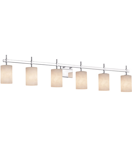 Justice Design CLD-8416-15-CROM Clouds 6 Light 49 inch Polished Chrome Bath Bar Wall Light in Square with Flat Rim, Incandescent photo thumbnail