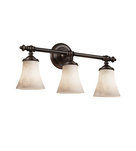 Justice Design Clouds Tradition 3-Light Bath Bar in Dark Bronze CLD-8523-20-DBRZ photo