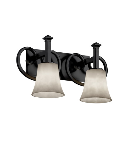 Justice Design Clouds Heritage 2-Light Bath Bar in Matte Black CLD-8582-20-MBLK photo