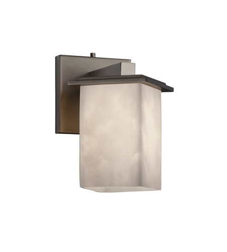Justice Design Clouds Montana 1-Light Wall Sconce (Angled Bobeche) in Brushed Nickel CLD-8661-15-NCKL photo
