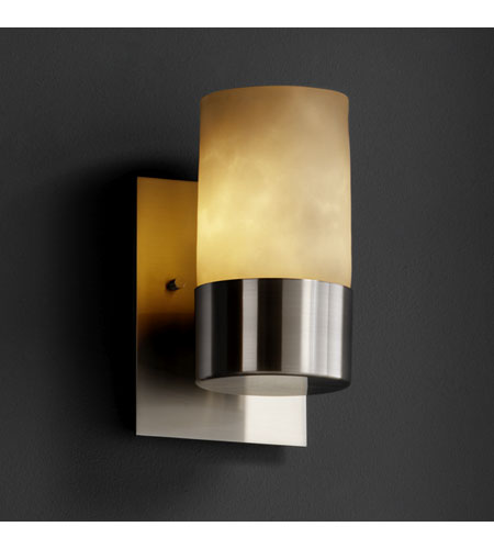 Justice Design CLD-8761-10-NCKL Clouds 1 Light 5 inch Brushed Nickel Wall Sconce Wall Light photo