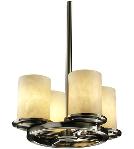 Justice Design Clouds Dakota 4-Light Ring Chandelier in Brushed Nickel CLD-8765-10-NCKL photo