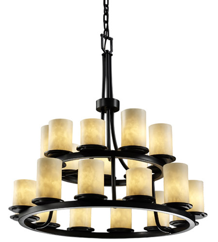 Justice Design CLD-8767-10-MBLK Clouds 21 Light Matte Black Chandelier Ceiling Light photo