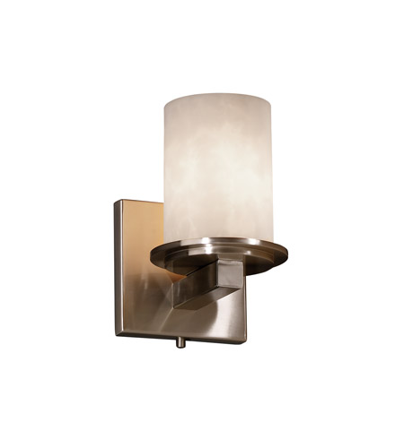 Justice Design Clouds Dakota 1-Light Wall Sconce in Brushed Nickel CLD-8771-10-NCKL photo