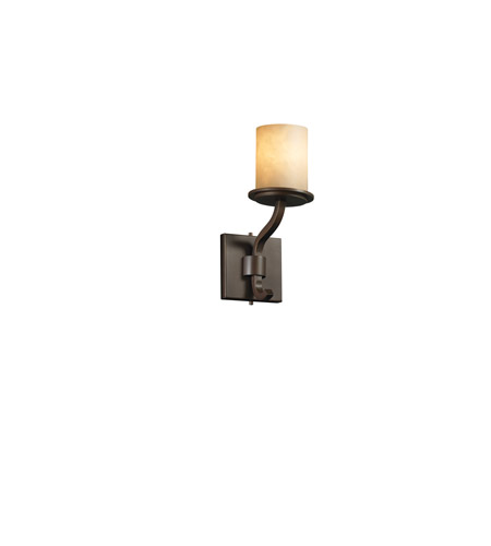 Justice Design Clouds Sonoma 1-Light Wall Sconce (Short) in Dark Bronze CLD-8781-10-DBRZ photo