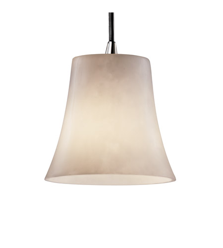 Justice Design Clouds Pendants Mini 1-Light Pendant in Polished Chrome CLD-8815-20-CROM photo