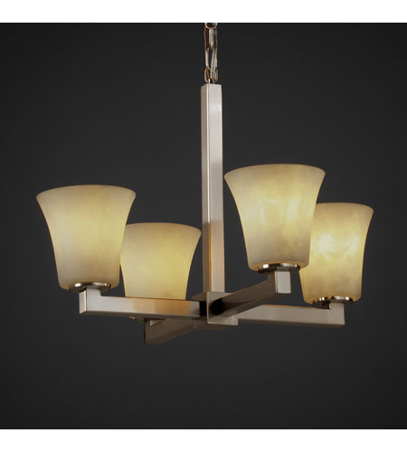 Justice Design Clouds Modular 4-Light Chandelier in Brushed Nickel CLD-8829-20-NCKL photo