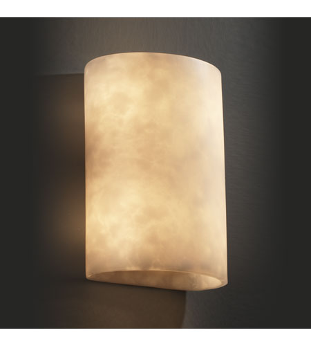Justice Design Clouds Ada Large Cylinder Wall Sconce CLD-8858 photo