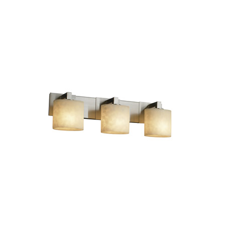 Justice Design CLD-8923-30-NCKL Clouds 3 Light 28 inch Brushed Nickel Bath Bar Wall Light in Incandescent, Oval photo