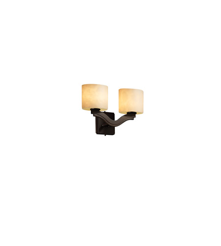 Justice Design Clouds Bend 2-Light Wall Sconce (Style 2) in Dark Bronze CLD-8975-30-DBRZ photo
