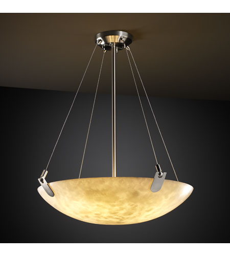Justice Design CLD-9627-35-NCKL Clouds 8 Light Brushed Nickel Pendant Bowl Ceiling Light in Round Bowl photo