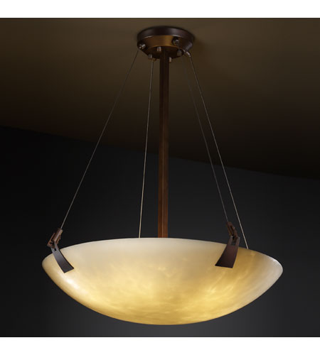 Justice Design CLD-9647-35-DBRZ Clouds 8 Light Dark Bronze Pendant Bowl Ceiling Light in Round Bowl photo