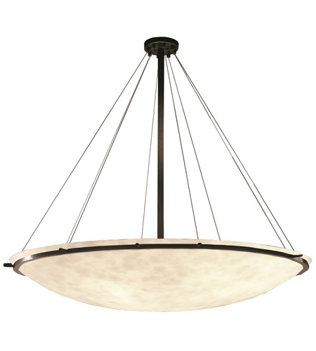 Justice Design CLD-9697-35-DBRZ Clouds 8 Light Dark Bronze Pendant Bowl Ceiling Light photo
