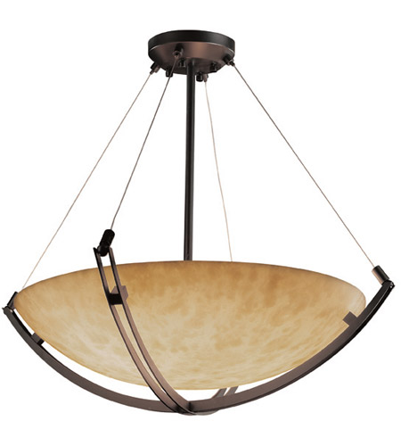 Justice Design CLD-9729-35-DBRZ Clouds 12 Light Dark Bronze Pendant Bowl Ceiling Light photo