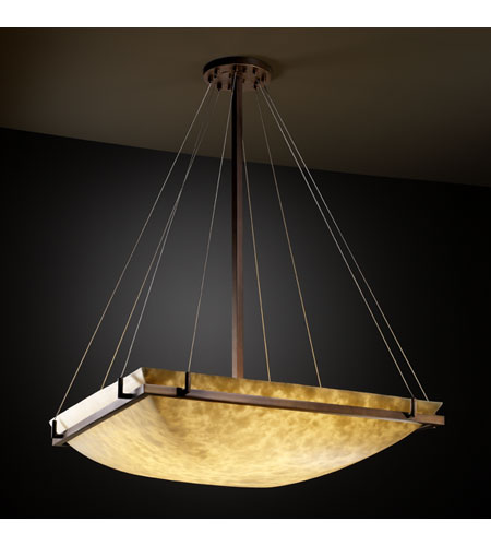 Justice Design CLD-9794-25-DBRZ Clouds 8 Light 40 inch Dark Bronze Pendant Bowl Ceiling Light photo