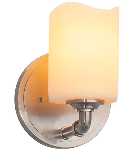Brushed Nickel Metal CandleAria Wall Sconces